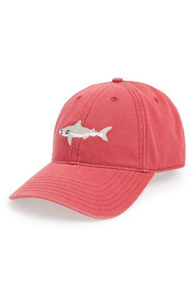 Harding-Lane Great White Shark Needlepoint Baseball Cap