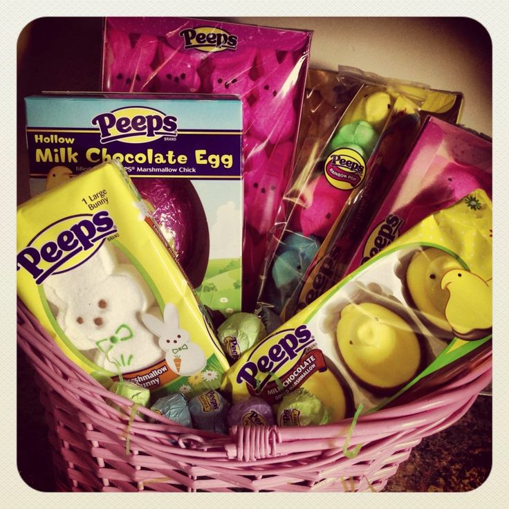 150 best easter baskets images on pinterest easter baskets gift easter baskets for adults fill your easter basket with peeps real mom reviews negle Gallery