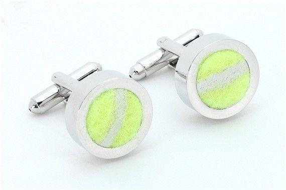 Women or Men's Tennis Cufflinks Jewelry   Made from by qacreate, $39.99