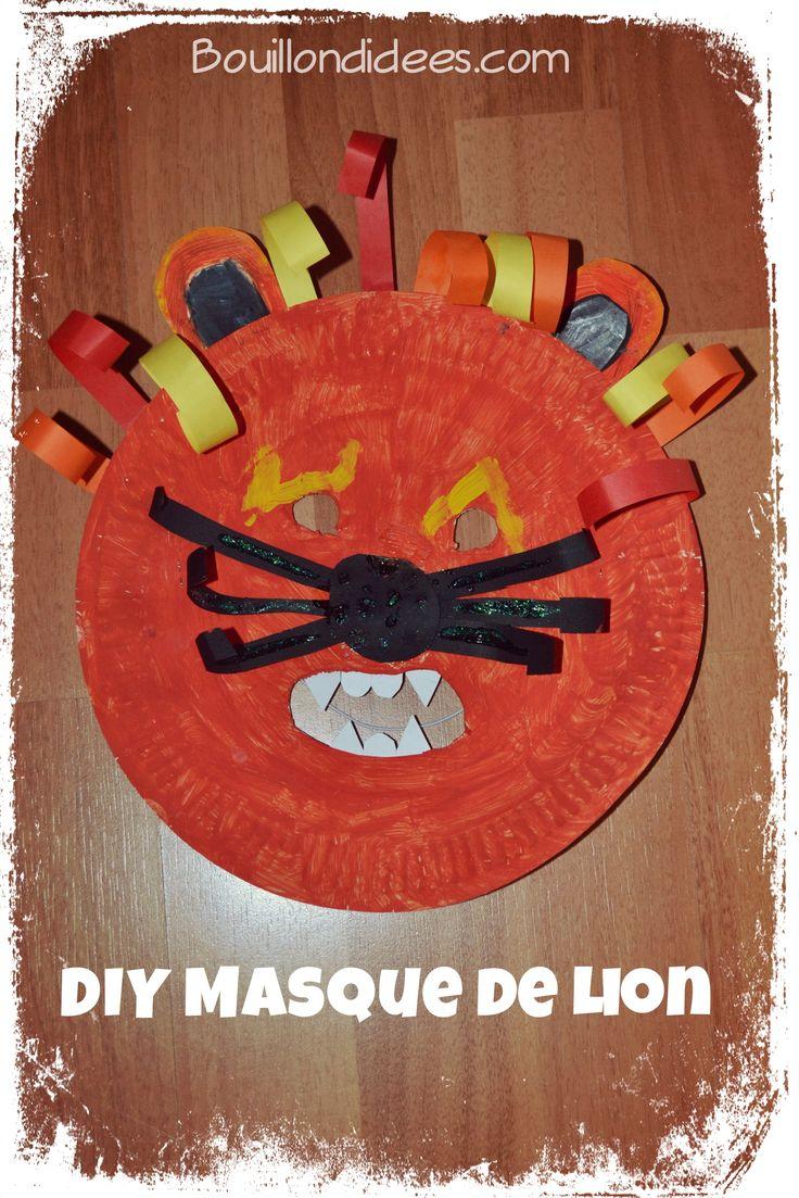 DIY Masque Lion Carnaval fªte anniversaire avec assiette carton