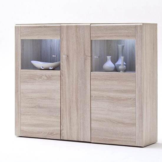 Unique 3 Door Buffet Cabinet
