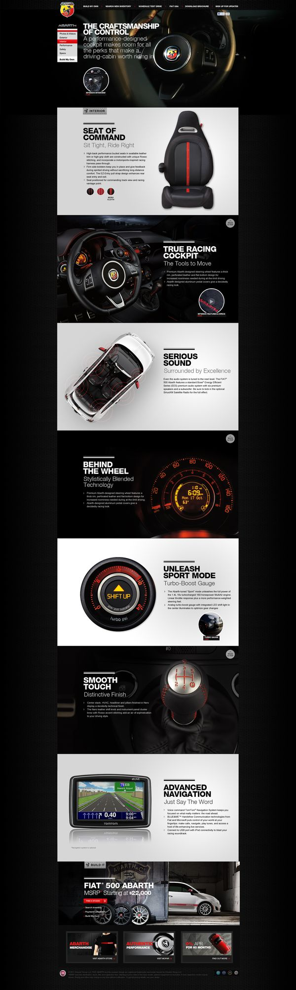 Cool Automotive Web Design on the Internet. Fiat. #automotive #webdesign #webdevelopment #website