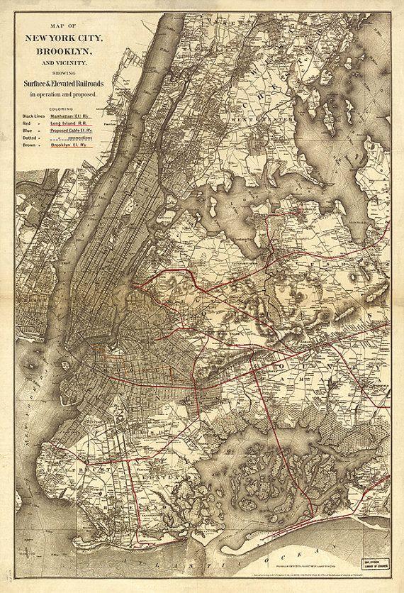 232 best New York City Maps images on Pinterest  New york city