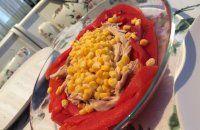 Tavuklu Köz Biber Salatası