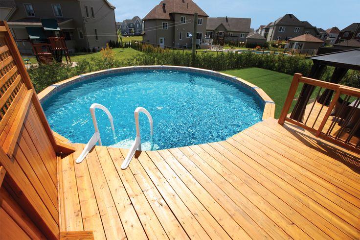 Les 10 meilleures images propos de piscines en c dre sur for Piscine trevi