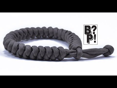 """Make the """"Snake Knot"""" Paracord Bracelet w/ Mad Max Style Closure  - BoredParacord.com - YouTube"""