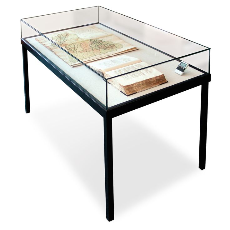 Ca 56.000 kr  Gaylord® Curator™ Terrace Table Leg Museum Case with Gas Lifters | Museum Quality | Exhibit & Display Cases | Exhibit & Display | Gaylord Archival