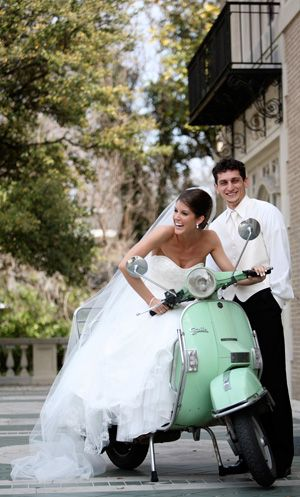 If I win... I will ride off in my Kate Spade Vespa at my wedding  #ridecolorfully