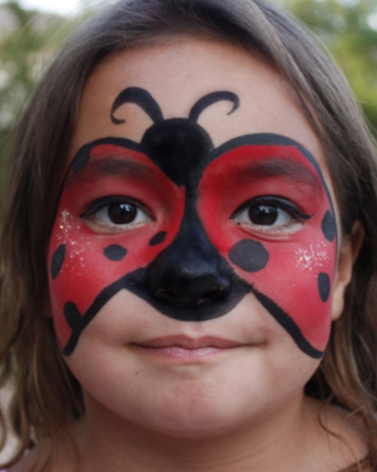 Ladybug face paint caras pinterest maquillaje - Pintura cara halloween ...