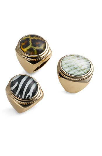 Barse Animal Print Rings