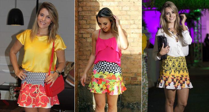 Coloridas e divertidas, as saias são uma ótima pedida pra o verão! Os modelos com babado na barra são as queridinhas do momento!