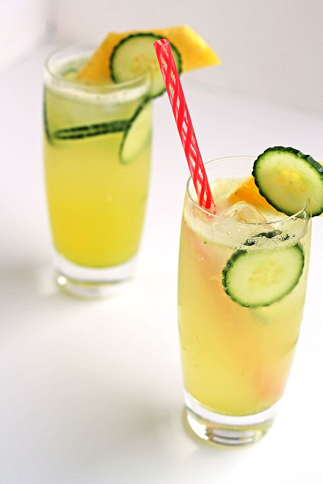 Pineapple and Cucumber Spritzer | Raw Food / Salad | Pinterest