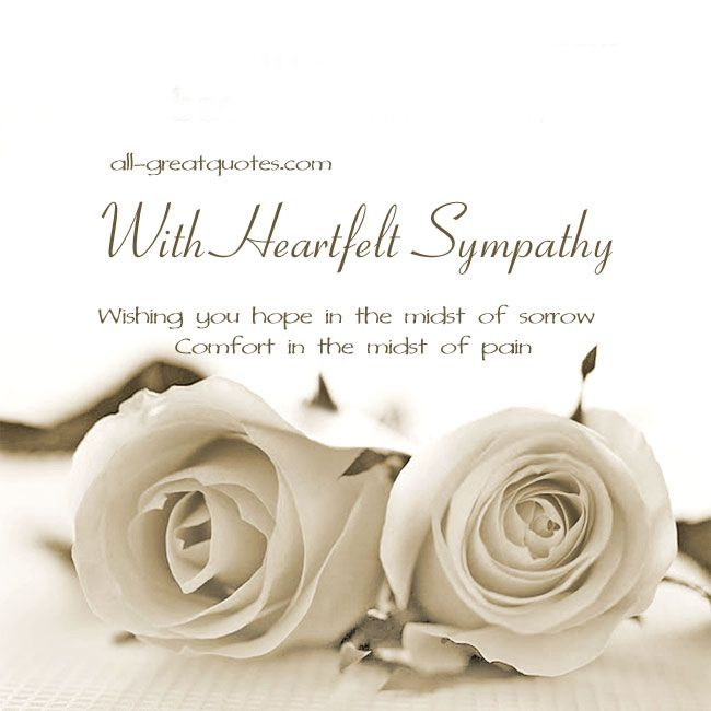 Best Sympathy Ecards Images On   Condolences Quotes