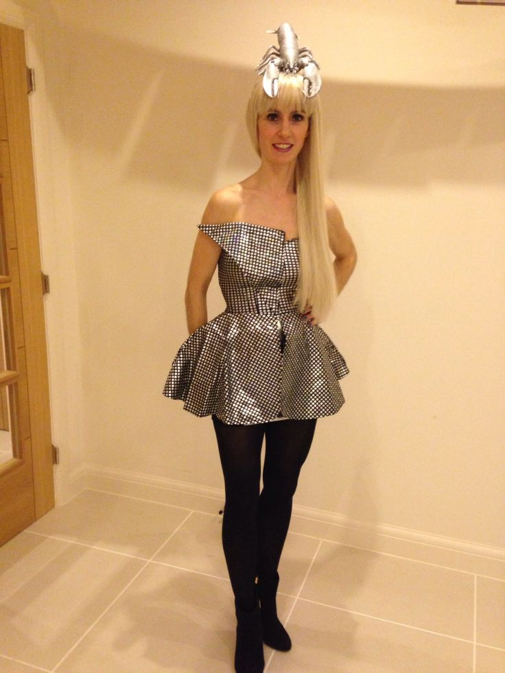 Lady Gaga Fancy Dress Silver Lobster Hat!