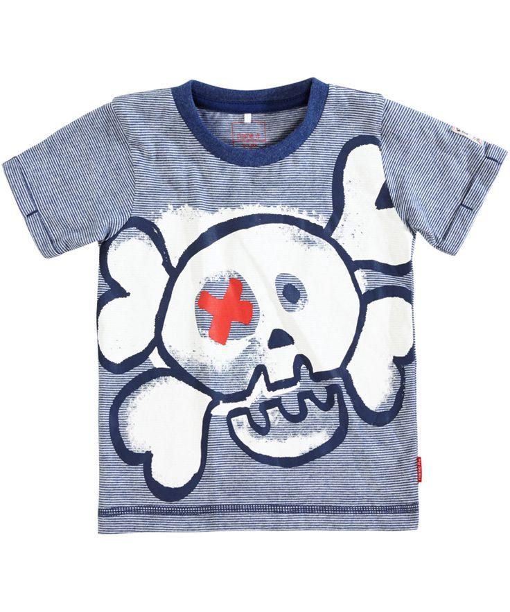 Nieuw Name It stoere marine gestreepte t-shirt met doodshoofd | Emilea kinderkleding