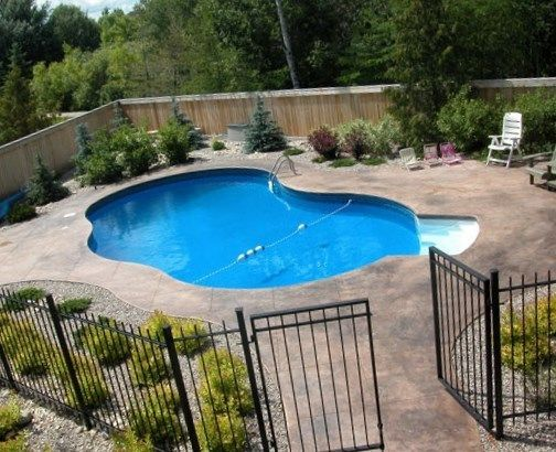Cool sensational backyard pool designs pool fencing for Backyard inground pool ideas