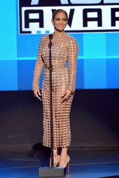 Jennifer Lopez Made the AMAs Her Very Own Fashion Show  - ELLE.com