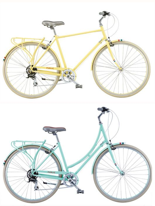 public bikes  - oh, how I want one of these bikes.  They must be getting ready for a new introduction of colors as they have only a few color choices now and large sizes only on their sale bike.
