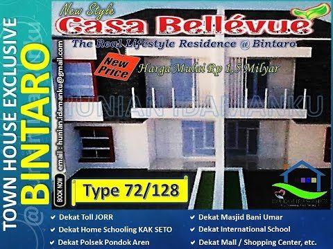 Harga Rumah Murah Mewah Bintaro 2017 Casa Bellevue Residence (CBR) Sektor 9 Pondok Aren ---> Youtube: https://youtu.be/cNMad7eyLMM