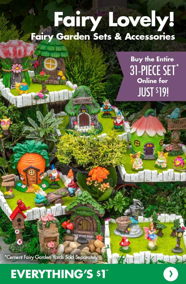 Fairy Gardens 31 Pc Sets In 2020 Fairy Garden Fairy Garden Diy Terraria Party