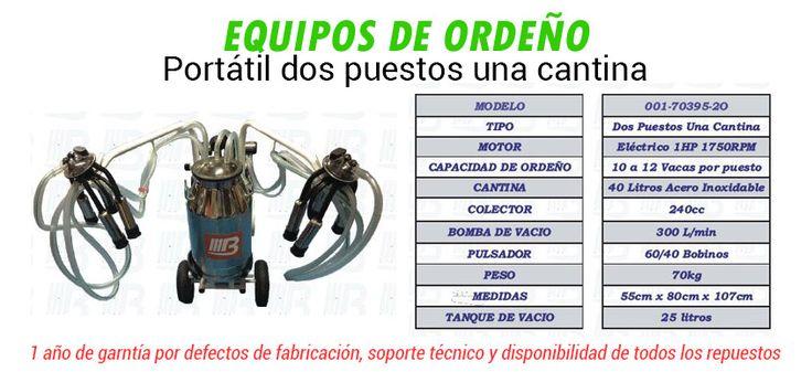 [EQUIPOS DE ORDEÑO IMPORTADOS - MAQUINARIA]  Equipos fijos, salas de ordeño, se envían y se instalan en todo Colombia.    Venta de equipos de ordeño portátiles  Antes $4.500.000  Adquiérelo ahora por solo $4.200. 000