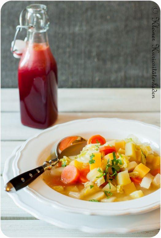 Gemüsesuppe, ganz ohne Schnickschnack...