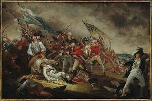 """The Death of General Warren at the Battle of Bunker hill"" oil painting by John Trumball circa 1786. #americanrevolution"