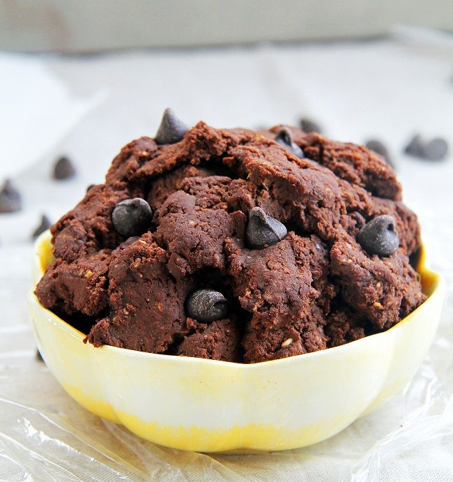 Mix it Up: Chocolate Cookie Dough No Bake, roll it up into balls, use it for whoopee pie filling, scoop it up with your fingers and put it in your mouth. Reminds me of wheat germ candy.