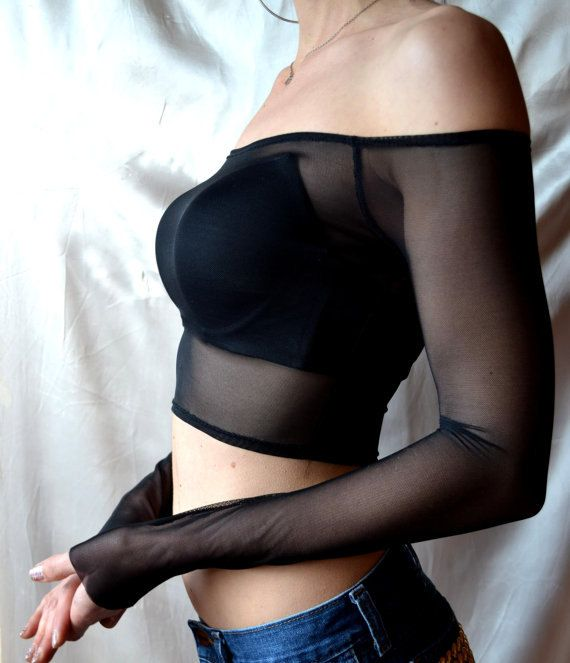 Hey, I found this really awesome Etsy listing at https://www.etsy.com/listing/226716857/mesh-crop-top-sexy-black-top-goth-off