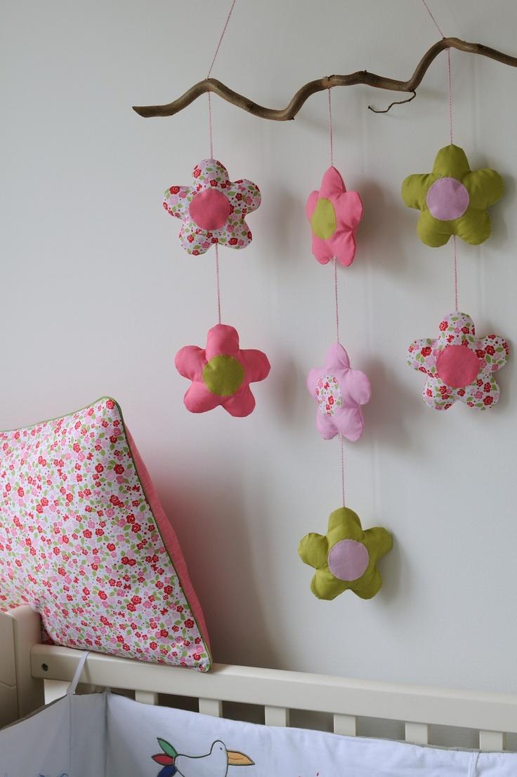 Mobile coussin fleurs Tea Blossoms Michael Miller - pillow cushion  fikOu miKou