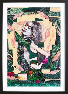 The Jungle Inside Of Me - CoCollagen - Affiche encadrée - bois