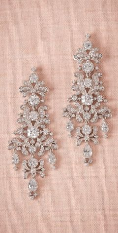 Sparkly chandelier earrings by bhldn