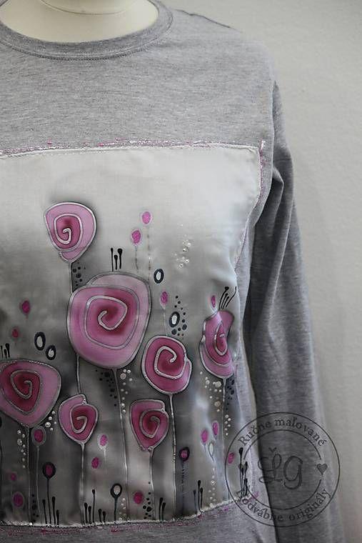 Tričko RUŽe velk.XL / LGhodvab - SAShE.sk - Handmade Tričká
