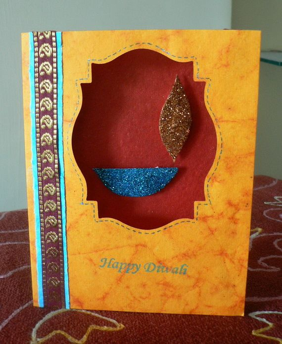 Diwali Homemade Greeting Cards Ideas_17