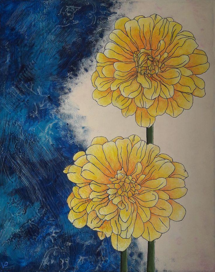 My acrylic flower:-)