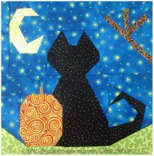 Free Pattern - Midnight's Hallows Eve Wall Hanging
