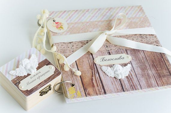 Personalised Baby Baptism Gifts, 2 Piece Baptism Gift Set, Baby Christening Photo Album And Keepsakes Box