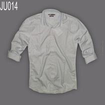 Áo sơ mi nam caro nhỏ hiệu Jules 100% cotton, áo màu xanh dương nhạt  tay dài, caro nhỏ dạng fitted ( ôm eo).