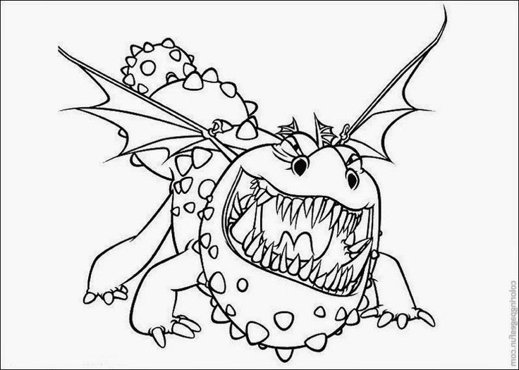 How to train your dragon coloring page for kids creative coloring pages