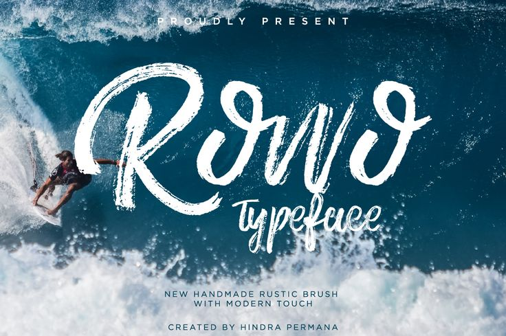 """Check out this @Behance project: """"ROWO - FREE FONT"""" https://www.behance.net/gallery/48674035/ROWO-FREE-FONT"""