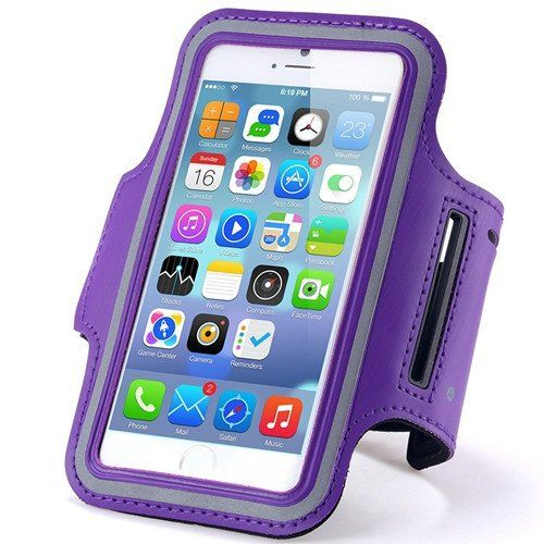 LG Aristo Purple Neoprene Adjustable Sports Arm Band with Velcro Band for Gym & Workouts, Washable & Breathable. MOST ORDERS SHIP WITHIN 24 HOURS AND ARRIVE IN 3 TO 5 BUSINESS DAYS WITH STANDARD SHIPPING. Made of comfortable but secure breathable neoprene. Comfortable armband is adjustable to your liking. Keeps your phone in place while exercising. High Quality Sports Band with comforatble neoprene material.