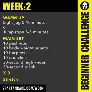 Spartan Beginner 1.2 « Workout of the Day