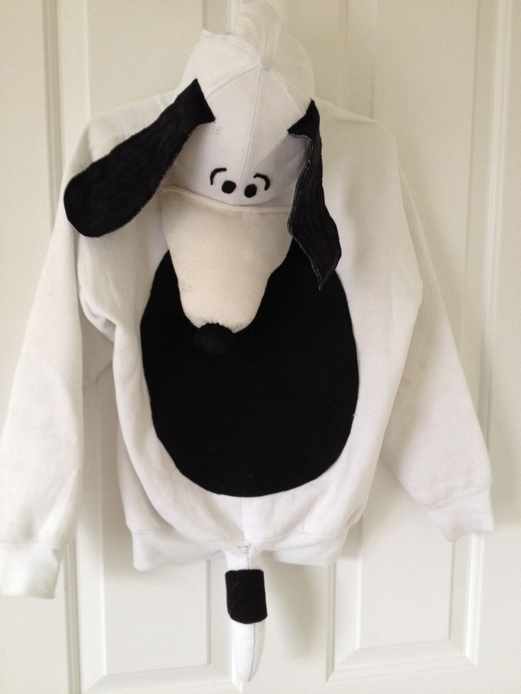 Easy DIY Snoopy Costume