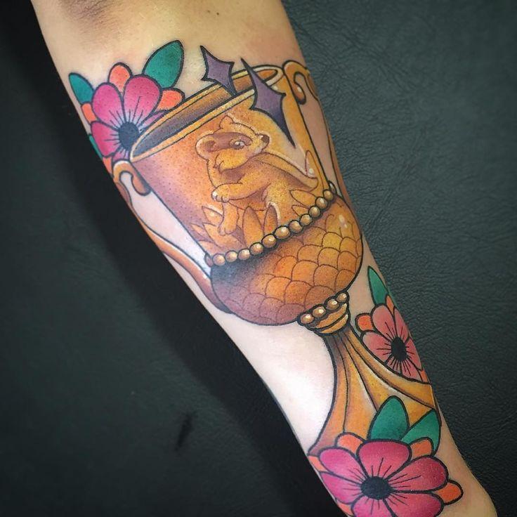 """ Hufflepuff! I would like to tattoo HP tattoos all day errday. ⚡️"""