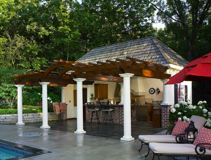 Outdoor Kitchen Backyard Cabana Backyard Pool Cabana