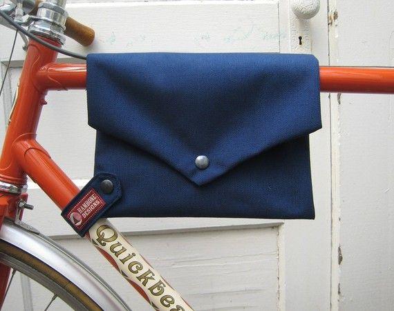 bike bag ... TopTube VeloPocket  navy cordura by HamboneDesigns, $35.00