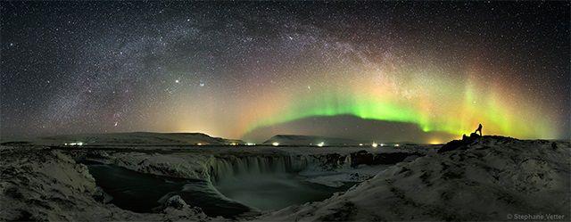 Aurora boreal en Dodafoss