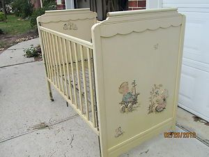 vintage baby nursery furniture | Antique Baby Crib Vintage from Storkline 1950.