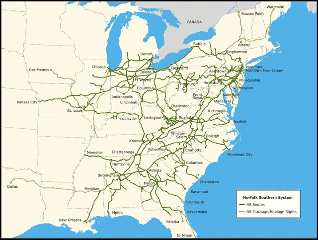 RAILROAD Freight Train Locomotive Engine EMD GE Boxcar BNSF,CSX,FEC,Norfolk Southern,UP,CN,CP,Map : RAILROAD MAPS of Train Tracks USA Mexico Union Pacific,Norfolk Southern NS,Canadian National CN, KCS Railway Lines