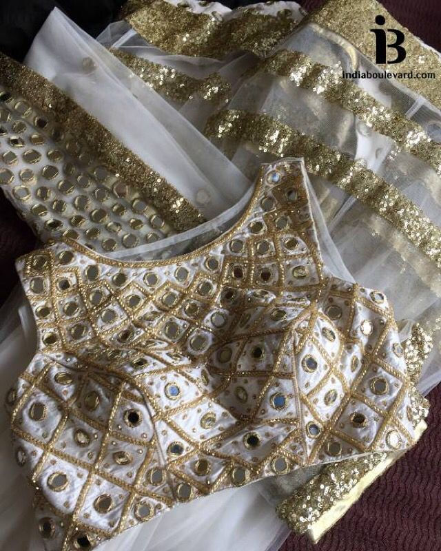 Feeling a bit disney, with this fairytail mirror work lehenga. Gold thread work and sequin borders. For all prices and inquries, please email us at inquiries@indiaboulevard.com or visit us at indiaboulevard.com #indiancouture #desicouture #indianwear #desifashion #indianfashion #fashionista #customindianwear #allthingsindian #newdesigners #lehenga #bridal #indianembroidery #couture #bollywood #aw15 #igers #instagood #asianbride #bollywood #autumn #anarkli #skirt #love #stunning #amazing